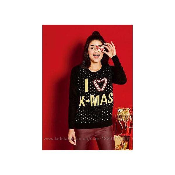 Женский рождественский свитер M L esmara германия