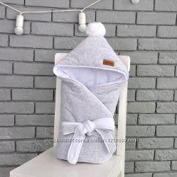 Велюровый конверт-одеяло на выписку MagBaby демисезон 4 цвета