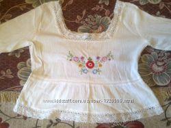 легкая блузка, вышиванка, футболка