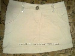 Классная белая мини юбка