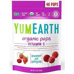 YumEarth, Органические леденцы, витамин C, ассорти, 40 леденцов, 241гр.