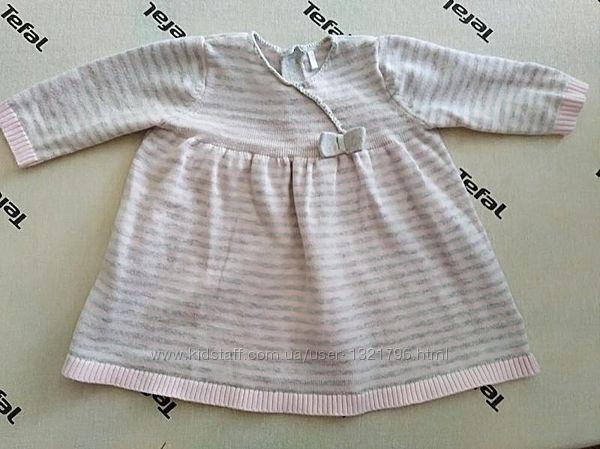 Милое платье туника на малышку mothercare
