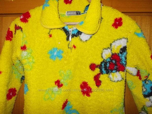 Пижама детская костюмчик махрово-плюшевый Пчелка на 6-8лет