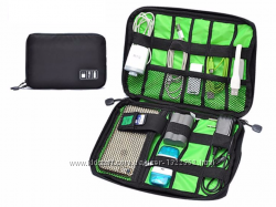 Чехол, сумка-органайзер для проводов, кабелей, флешек, наушников и пр.