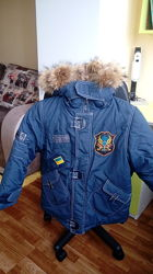 Очень теплая зимняя куртка летчика Garland на мальчика. На 6-7 лет.