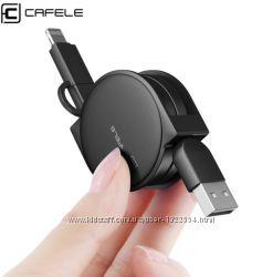 Вытяжной USB шнур 2 в 1 IphonemicroUSB. Универсальный USB шнур. Тип 2