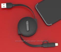 Вытяжной USB шнур 2 в 1 IphonemicroUSB. Длина 1, 5 метра.