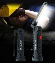 USB фонарь 5 режимов свечения  магнит  крючок 113, 6 см