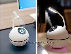 Увлажнитель воздуха  вентилятор и USB фонарь