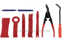 Профессиональный набор инструмент для снятия обшивки облицовки авто 9 шт.