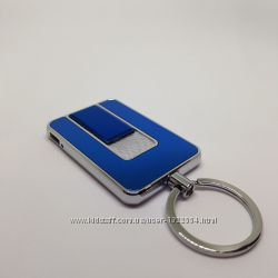 USB зажигалка - брелок. Синяя