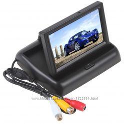 Автомобильный монитор для камер заднегопереднего вида. Раскладной 4, 3 дюйм