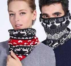 Теплый шарф-баф с накладками для ушей Унисекс Б-1008