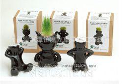 Травянчик керамический черный одинарный
