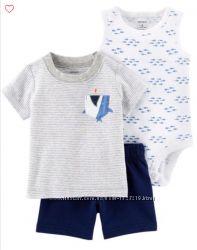 Костюм Carter&acutes 3в1 для мальчика  6, 9, 12, 18 и 24 месяцев