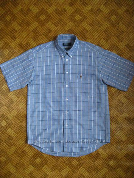 рубашка - короткий рукав - клетка - Ralph Lauren - Polo - размер М