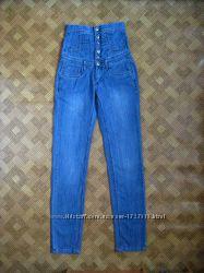 джинсы с завышенной талией - R. Marks - размер S, M - 2833L