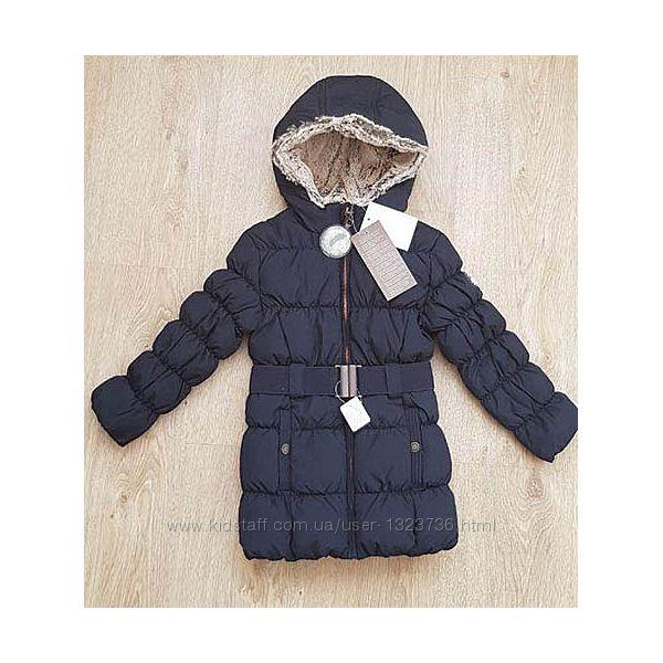 Куртка-пальто пух для девочки C&A Palomino 104 синяя,128 красная. Германия