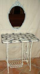 Столик-консоль с навесным зеркалом, стиль прованс, шебби шик