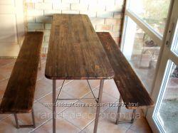 Набор раскладной мебели стол со двумя скамейками