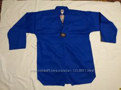 Куртка кимоно таэквондо р. 150-190 см синяя