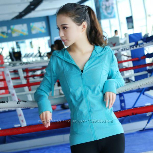 Спортивный свитшот active one, с капюшоном, с прорезью для пальца