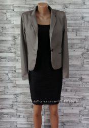 Пиджак жакет приталенный серый H&M