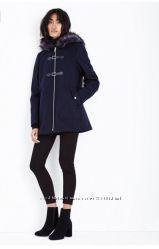 Стильное пальто темно-синее новое New Look