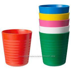 Набор стаканов, разные цвета 6 шт. Ikea