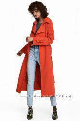 Тренч H&M XS - M ярко красный плащ
