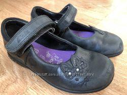 Кожаные туфельки Clarks р. 25 туфли 627a814e7615c