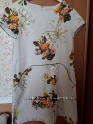 Льяное платье Zara 140р.