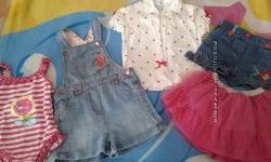 Пакет летних вещей на девочку на 2-2, 5 года