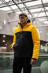 Демисезонная Куртка Temp бренда Intruder оранжевая - черная желтая - черная