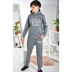 Утепленный Спортивный костюм на мальчика с начесом 7,8,9,10
