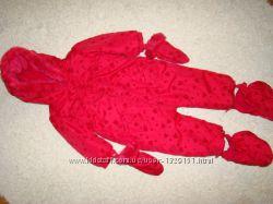 Демисезонный красный комбинезон Matalan на 9-12 месяцев