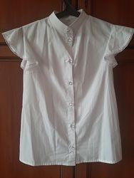 Белая блузка до 14.10 скидка 50 грн