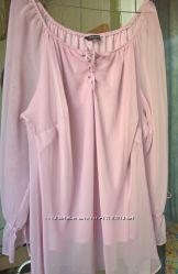 Шикарная шифоновая блузка для пышных дам с большой грудью, essence, 24 разм
