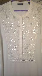 Белая блуза helene fischer, 54 размера