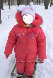 Костюм зимний на девочку 3-4 лет