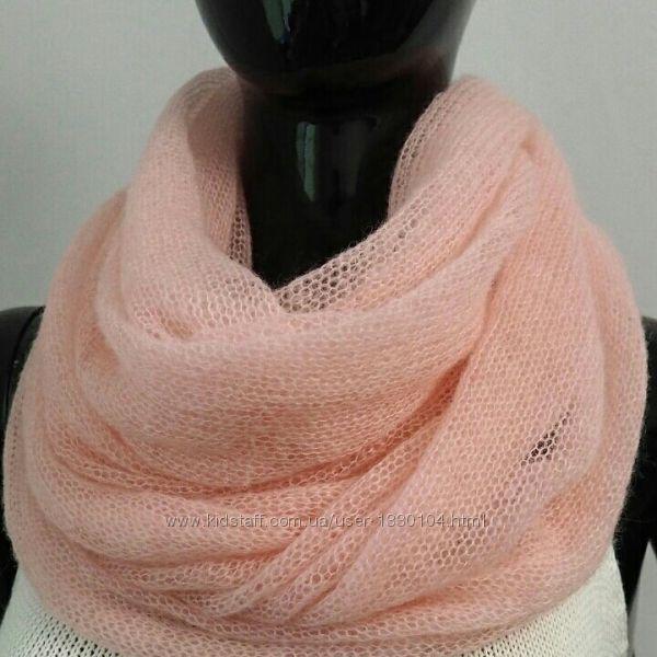 Уютные воздушные шарфы, хомуты из качественного итальянского махера