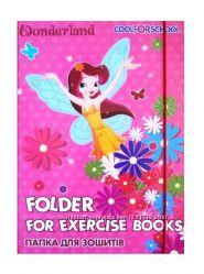 Папка для тетрадей, ламинированный картон на резинке для девочек и мальчико