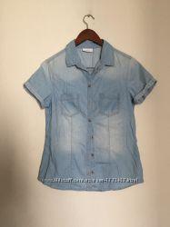 Лёгкая джинсовая рубашка тонкий джинс