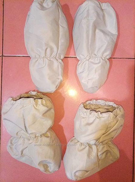 Новые сапожки и рукавички для комбинезона зимнего до 1 года