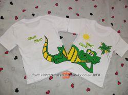 Очень яркие и красивые детские футболочки