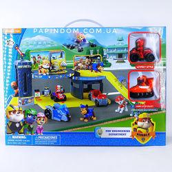Гараж Щенячий патруль 2 героя, 2 уровня гараж база 335  336
