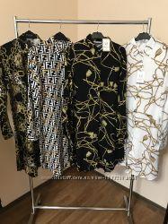 Платья рубашки с принтами в стиле Zara
