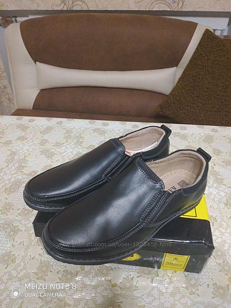Туфли -мокасины, кожа, на мальчика. Размеры 31,32,33,34,35,36