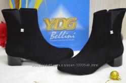Женские демисезонные ботинки натуральная замша