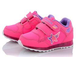 Кроссовки для девочки Кросівки для дівчинки Ввт с мигалками